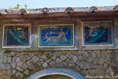 Frescoes in the ancient ruins of Herculaneum