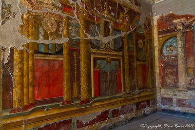 Painted frescoes in Oplontis Villa