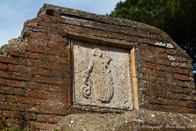 A sign at Ostia Antica