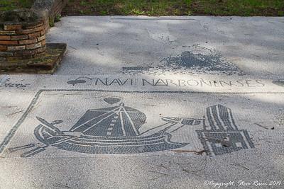 Mosaic floor in the Piazzale delle Corporazioni, Ostia Antica