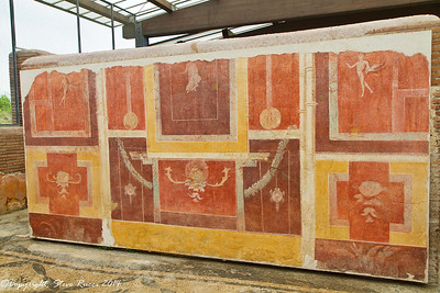 "Frescoes in the ""decorated houses"" of Ostia Antica"