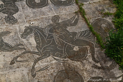 Mosaic of Aphrodite in another bath area of Ostia Antica
