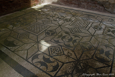 "Mosaic floor inside the ""decorated houses"" of Ostia Antica"