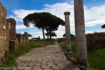 Ancient road in Ostia Antica