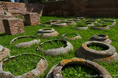 Ancient referigerators - pots buried in the ground, Ostia Antica