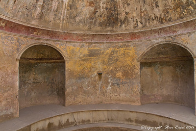 Inside a bath house in Pompeii