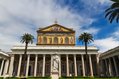 St. Paul's basilica, Rome, Italy.