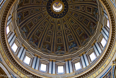 Inside the dome of St. Peter's basilica.