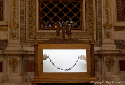 Relic of supposed chain links that held Paul while imprisoned in Rome before his execution.