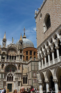 St. Mark's Basilica, and the Doge's Palace, Venice, Italy.