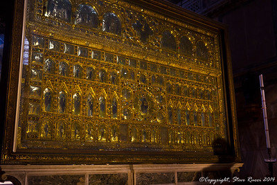 The Pala d'Oro altarpiece in St. Mark's Basilica, Venice, Italy.  http://en.wikipedia.org/wiki/Pala_d%27Oro