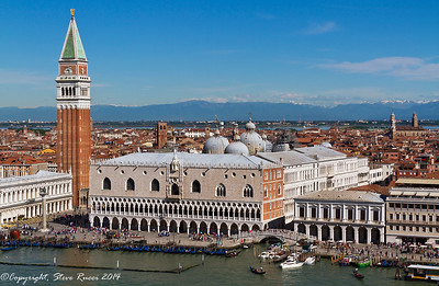 St. Mark's square and the Doge's Palace, Venice, Italy.