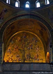 Inside St. Mark's Basilica, Venice, Italy.