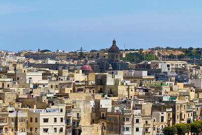 Valetta skyline showing some of the many church domes.