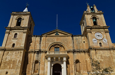 Outside view of St. John's Co-Cathedral, Valletta, Malta.