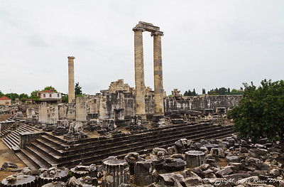 The ruins of the Temple of Apollo at Didyma, Turkey