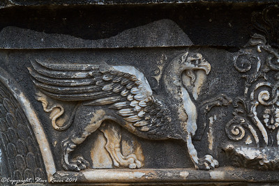 Carved griffin detail at the Temple of Apollo - Didyma, Turkey