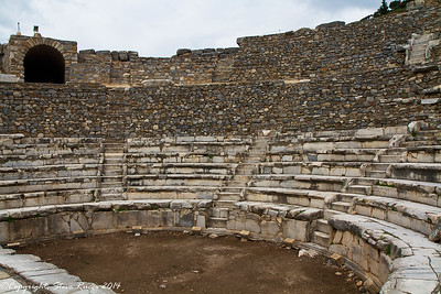 The theatre at the ancient ruins at Ephesus, Turkey
