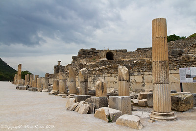 The ancient ruins at Ephesus, Turkey
