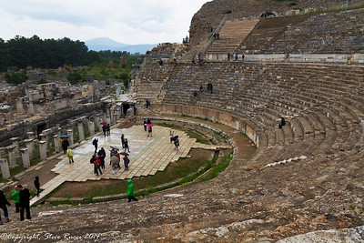 The theatre at the ancient ruins of Ephesus, Turkey