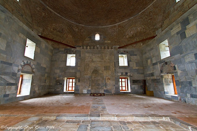 Inside the Ilyas Bey mosque at Miletus, Turkey