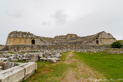 The theatre at the ancient ruins of Miletus, Turkey