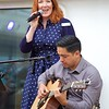 On Viking Star: Pool Deck: Jenna singing with guitarist Daniel