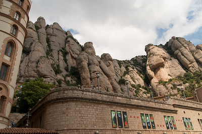 Museum and mountains above Montserrat - Barcelona