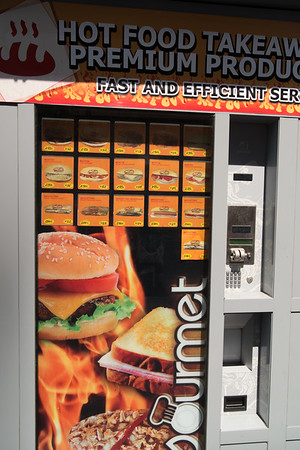 Fast food vending machine in Gibraltar