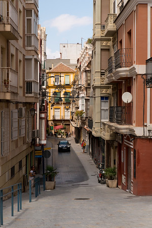 Streets of Calle Mayor - Cartagena Spain