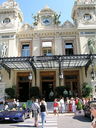 The entrance to the Casino at Monte Carlo