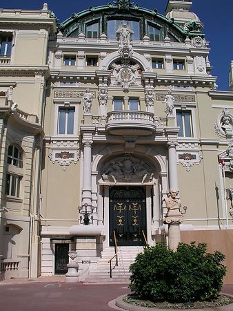 The side entrance of the Casino at Monte Carlo