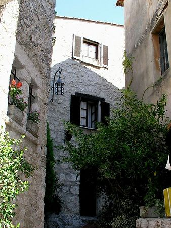The narrow winding streets  of Eze are very picturesque.