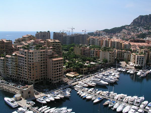 A view of the harbor in Monaco