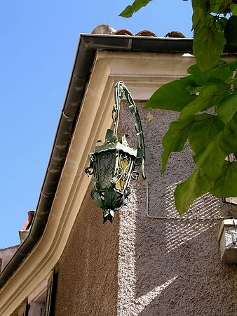 A street lamp in Eze