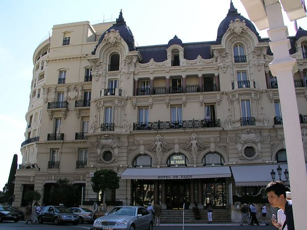 The hotel de Paris, next to the Casino