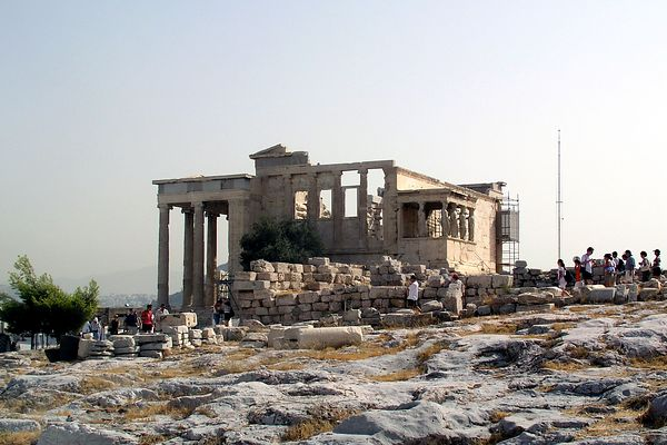Side view of the Erechtheion