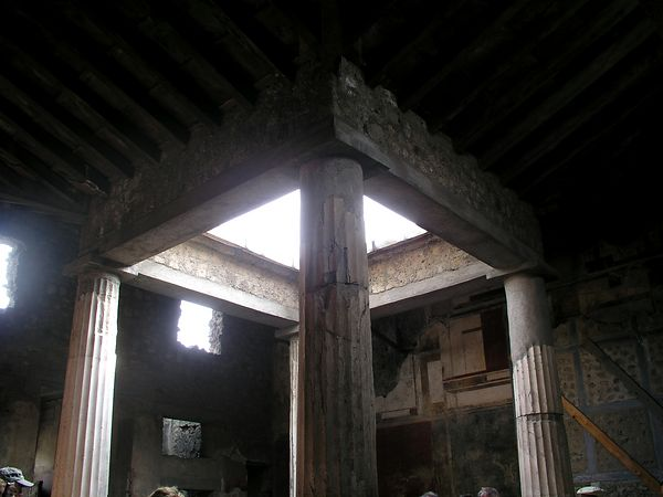 In the center of the baths