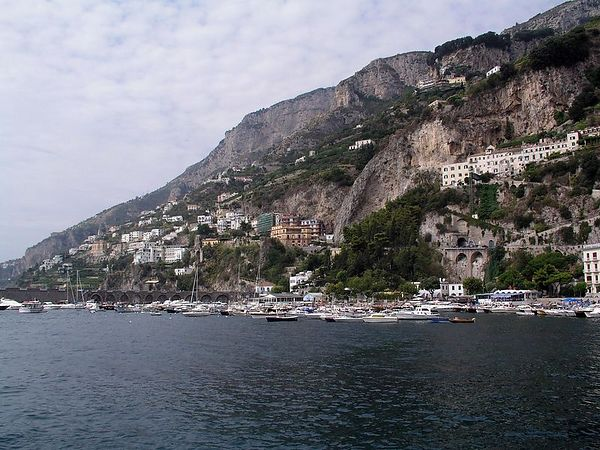 The bay at Amalfi.