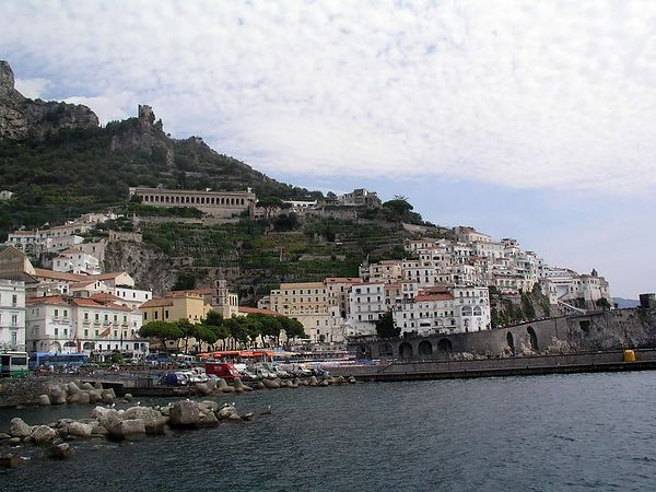 The opposite side of the bay of Amalfi