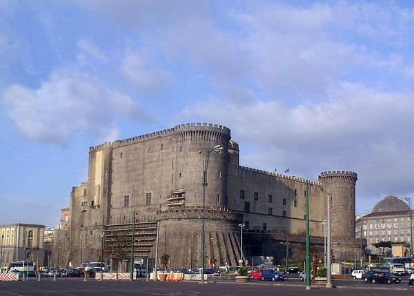 This ancient fortress is just in from the dock at the port of Naples.