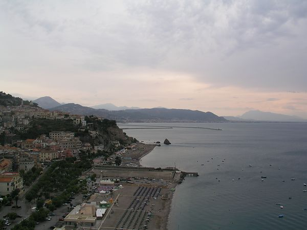 Approaching Salerno at the end of the Amalfi Coast drive