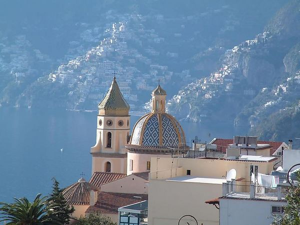 The town of Praiano on the Amalfi coast.
