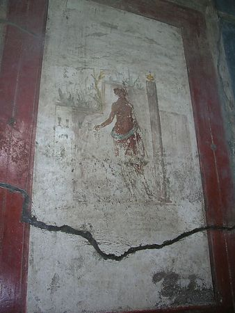 This is a well preserved artwork in the Forum baths.