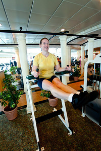 Linda and I get to work out most days.  The place was quite nice.