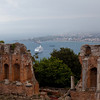 The roman amphitheater with an awesome view of the town.