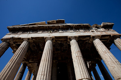 In Athens.  We see the temple below the Parthenon.