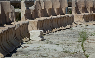 Another Amphitheater below the Parthenon.  The chairs in the foreground were for the important people.