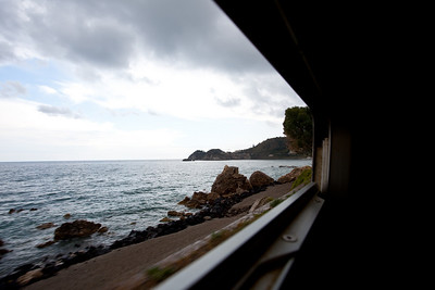 The view from the train which hugged the shore all the way back.
