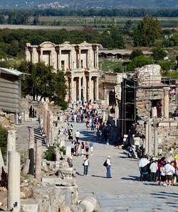 Turkey.  The main street in Ephesus.